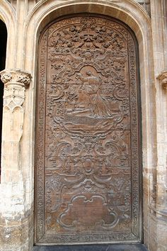 Lateral door, Cathedral of Oviedo, Spain