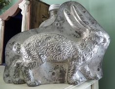Antique Chocolate Mold Easter