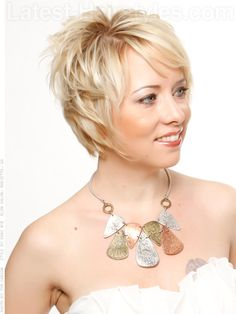 20 chic short haircuts that'll make you want to go short.  front and side views with tips on styling