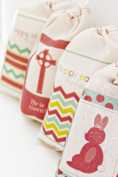 Personalized Easter Favor bags  choose from bunny by theenglishpea, $24.00