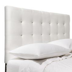 Solid Upholstered Headboards - target.com. Well reviewed. Presumably, can use it with a metal bed frame.