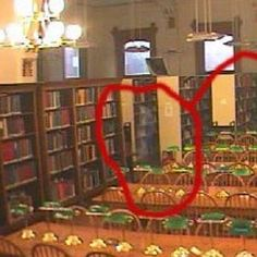CREEPY! The Willard (Indiana) Library is haunted, and has ghost cams! Here is a ghostly apparition picked up by one of the cameras.