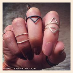 Minimalistic and edgy jewellery in sterling silver by Vera Vega.  www.veravega.com