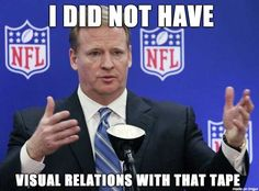 Goodell denies having knowledge of the video tape that showed Ray RIce's knockout punch.