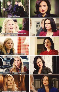 Watch Reginas face Change as Emma starts to believe in her