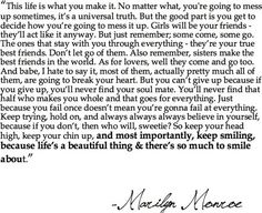 And this is why Marilyn Monroe is the love of my Life!!! <3