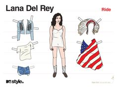 Print Out Paper Dolls Of The Best 2012 Music Video Fashion! | MTV ...