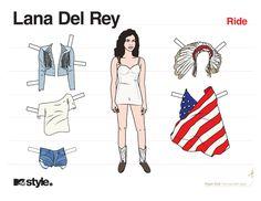 Lana Del Rey Ride Paper Doll