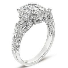 14k 1.52 Dwt Diamond White Gold M.pave Ring - JewelryWeb.