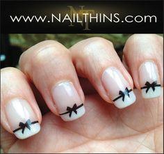 Black Bow Nail Decal  Bow Nail Design Nail Art  NAILTHINS on Etsy, $3.25