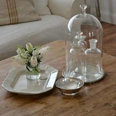 Apothecary Jars inside Glass Cloche