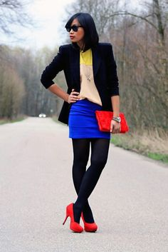 Color Blocking Primary Colors
