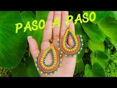 COMO HACER ARETES EN MOSTACILLA Y MURANO - YouTube Crochet Jewelry Patterns, Beading Patterns, Diy Jewelry, Beaded Jewelry, Jewelry Accessories, Handmade Beads, Handmade Jewelry, Bead Earrings, Crochet Earrings
