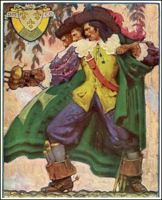 Illustration House, Inc-The Three Musketeers by Mead Schaeffer