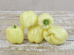 Albino Bullnose Pepper | Baker Creek Heirloom Seed Co- one of the earliest to produce