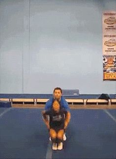 This guy steps in no matter what the challenge. | 13 Mighty Spirited Cheer Stunts this is amazing!!