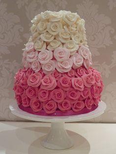 sugar rose cake - Google Search