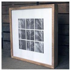 handmade oak-framed print