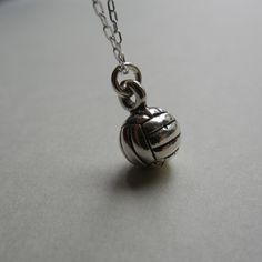 Little Volleyball Necklace by MKCharms on Etsy