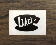 Gilmore Girls Luke's Diner Die-Cut Decal  Luke's by Ashetonishing