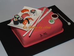 Sushi Cake - Yahoo Image Search Results Sushi Cake, Cake Pops, Cupcakes, Cookies, Desserts, Food, Image Search, Design, Cooking