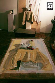 akvarell studium