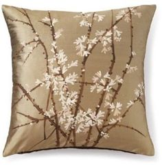 ShopStyle: Handpainted Silk Cherry Blossom Pillow