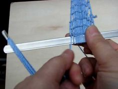 how to make a net. filet lace - YouTube