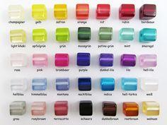 Polarisperlen - 50 Polaris Würfel 8x8 mm glänzend, Wunsch-Farbmix  - ein Designerstück von Perlenbraut- bei DaWanda