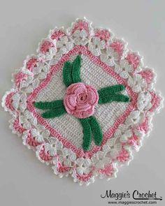 Tutte le dimensioni |Vintage Pink Floral Potholder Crochet Patterns PB096 | Flickr – Condivisione di foto!
