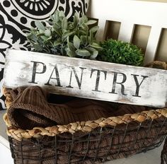 A personal favorite from my Etsy shop https://www.etsy.com/listing/288060143/pantry-sign-ultra-distressed-farmhouse