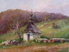 Kapliczka w Bodakach Interesting Buildings, Country Scenes, Photo Reference, Geraniums, Painting & Drawing, Poland, Around The Worlds, Landscape, Architecture