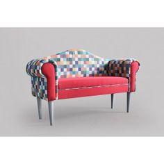 Designová čalouněná lavice Venezina PATCHOWORK QUADRAT