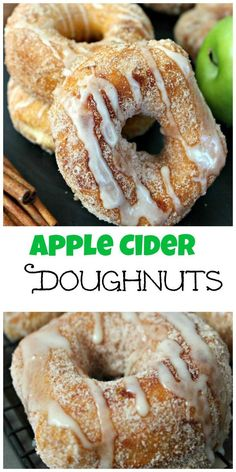 Apple Cider Doughnuts: Cinnamon sugar donuts topped with a decadent apple cider glaze. A perfect fall breakfast treat!