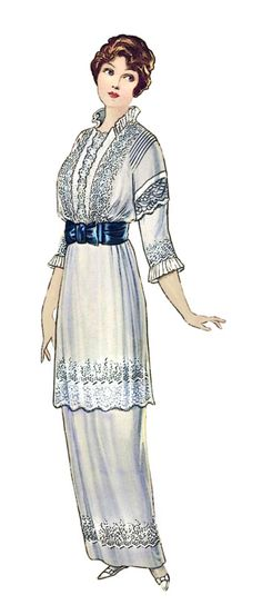 Ladies Fashion 1913   Yes, must have been me in another life!   Glorious dress!