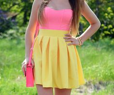 neon pink and yellow