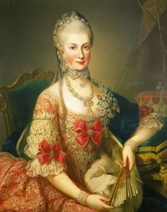 """Maria Christina, Duchess of Teschen, called """"Mimi"""", was the favorite daughter of Maria Theresa of Austria and Francis I, Holy Roman Emperor. She was the Regent (governor) of the Austrian Netherlands in 1781-1793. She was the sister of the French Queen Marie Antoinette. Mimi was not only beautiful but she was also highly intelligent and artistically gifted. She was born on 13 May 1742."""