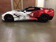 """corvettes: """" Geometric Wrapped Corvette """""""
