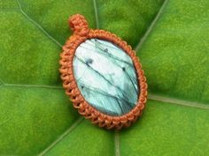 ▶ How to make a macrame handmad Wrapped labradorite stone pendant - YouTube