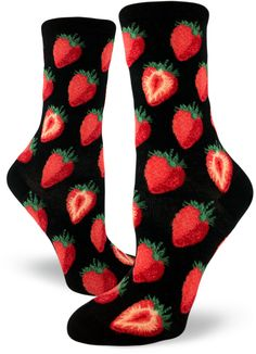 a14c992e79e1 Life is sweet in a pair of strawberry socks by ModSocks. Funny Socks, Cute