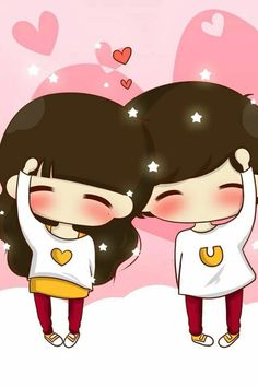 Kawaii Chibi, Cute Chibi, Kawaii Cute, Anime Chibi, Love Cartoon Couple, Chibi Couple, Cute Love Cartoons, Illustration Art Nouveau, Chibi Girl