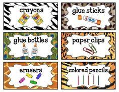 Jungle Theme Supply Labels Editable! - Jungle Theme Classr