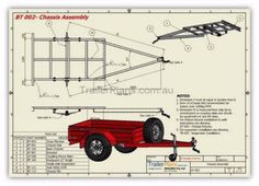 Box trailer, utility trailer, general purpose single axle trailer with detailed drawings and assembly guide to get your trailer build project under way fast Box Trailer, Trailer Diy, Off Road Trailer, Trailer Plans, Trailer Build, Utility Trailer, Teardrop Trailer, Metal Projects, Welding Projects
