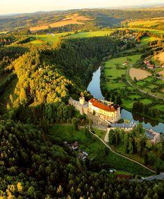 Český Šternberk from the air (Central Bohemia), Czechia #fromtheair #czechia…