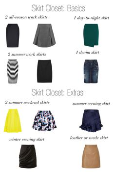 Building a Skirt Wardrobe by thecapsuleproject on Polyvore featuring Carven, Isabel Marant, Lipsy, Balmain, White House Black Market, MANGO, Current/Elliott, J.Crew, Aquascutum and Alexander Wang