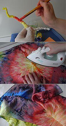 Метод окраски Узелковый батик   Умелые ручки