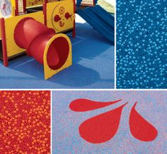 Don't forget the surfacing! We have playground safety surfacing to help keep kids safe (and complete the design of your play environment).