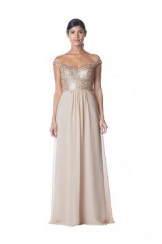 c2fc11991998 Bari Jay 1751 Off Shoulder Sequin Chiffon Bridesmaid Dress