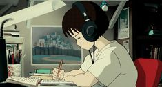 i love studio ghibli films, they make me happy. and since i am new fan, i still have a lot of catching up to do so please feel free to submit everything & anything ghibli! Art Anime, Anime Kunst, Anime Manga, Hayao Miyazaki, Totoro, Gif Studio, Studio Ghibli Films, Anim Gif, Hip Hop Radio