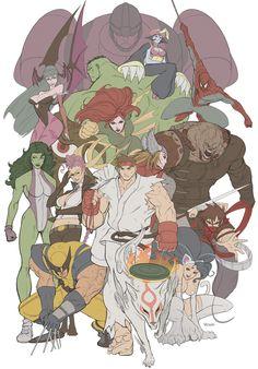 Marvel vs Capcom 3 fan art